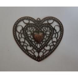 sz.metal serce azurowe 6,5*5,8 cm