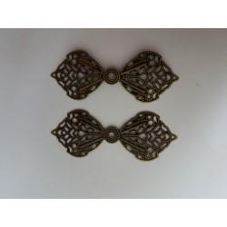 sz.metal kokardka 6,2*2,4 cm opk.2 szt