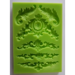 ***odlewy silikonowe 6 szt ornamenty 9*13,4 cm