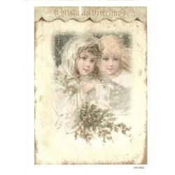 ***papier ryżowy A-6 1882 dzieci we mgle