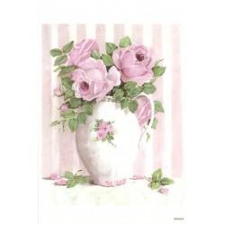 ***papier ryżowy A-5 21 wazon kwiaty
