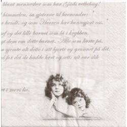 ***serwetka 33x33 V1 aniołki, pismo