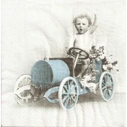 ***serwetka 33x33 V3 chłopczyk w samochodzie
