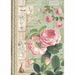 stamperia papier ryżowy A-4 DFSA4359 róże