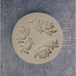 pentart foremka silikonowa róże z gałązkami 7,5cm