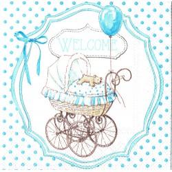 ***serwetka 25x25 DZ18 welcome baby