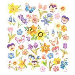 ***naklejki kwiatki