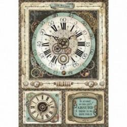 stamperia papier ryżowy A-4 DFSA4367 zegar