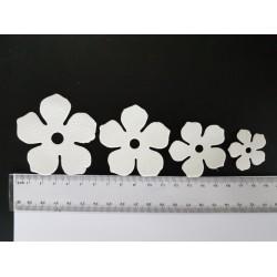 ***wykrojnik pianki foamiran kwiat biały / 2 kpl