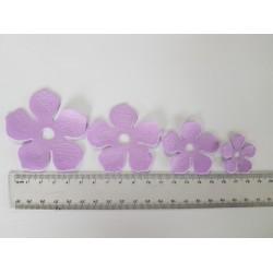 ***wykrojnik pianki foamiran kwiat fiolet /2kpl