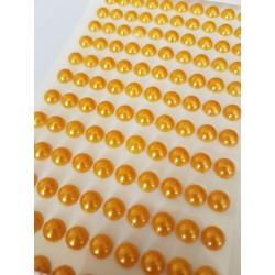 perełki samoprz. 8 mm ciepły żółty