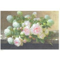 ***papier ryżowy A-4 43 bukiet róże,horetnsje