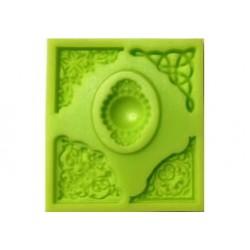 ***odlewy silikonowe kabaszon+narożniki 8,5*7,5 cm