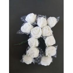 ***kwiat pianka z siatką 2,5cm biały