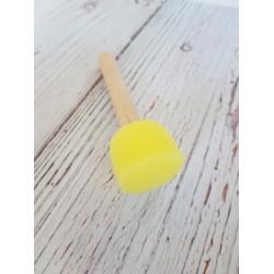 pędzel gąbkowy żółty 30mm 3