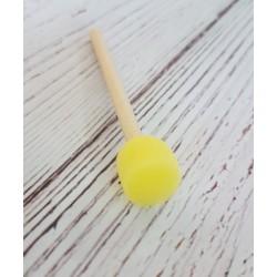 pędzel gąbkowy żółty 5mm 1