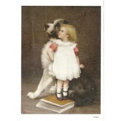 ***papier cienki A-6 3691 Dziewczynka z psem