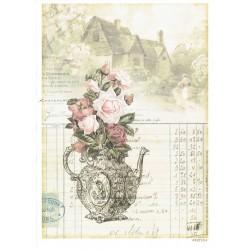 ***papier cienki A-5 4212-5 wystawny dzban róży