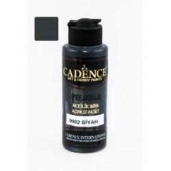 ***cadence farba premium 120 ml -0002 czarna
