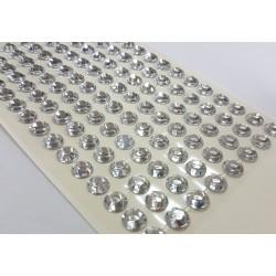 kryształki samoprzyl.8 mm kolor transparent