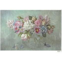 ***papier ryżowy 20*25 cm 3385 kwiaty w wazonie