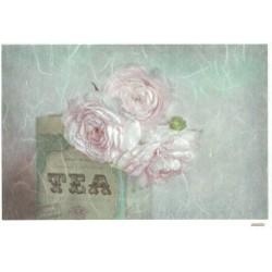 ***papier ryżowy 20*25 cm 3381 róża,tea