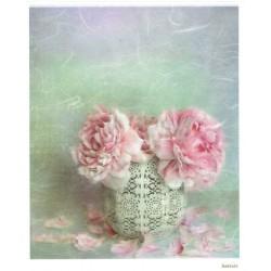 ***papier ryżowy 20*25 cm 3469 róże w wazonie