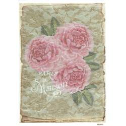 ***papier ryżowy A-5 1683 róze