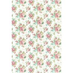 ***papier cienki A-3 3117 tło kwiaty