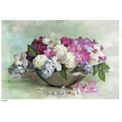***papier cienki A-5 1627 kwiaty w misce