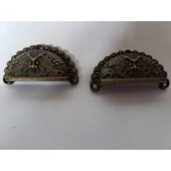 sz.metal uchwyt muszelka 4,6*2,5 cm cena za 1 szt