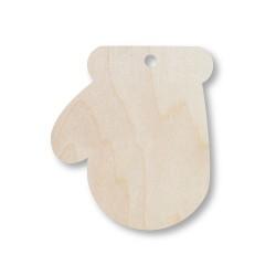 ***rękawiczka mikołaja drewniana, 10x8 cm