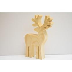 ***renifer drewniany, 12x14x1,8 cm