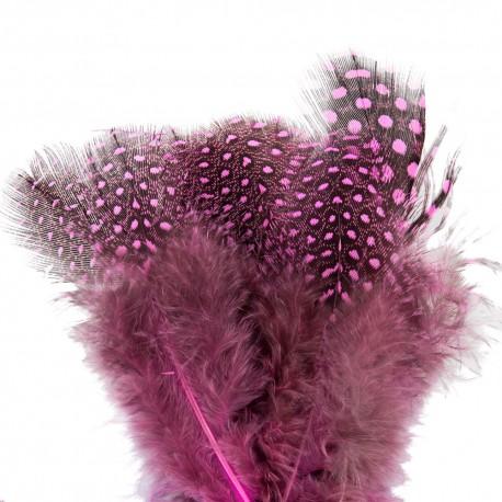 ***pióra przepiórcze różowe kropki
