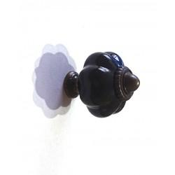 ***gałka szklana  czarna 3,5*3 cm