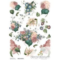papier ryżowy A-4  kod 0051 kwiaty