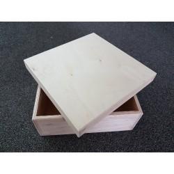 ***drew. pudełko 21*21*10,5 cm, bez zawiasów