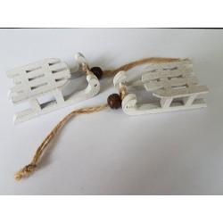 ***drew.saneczki midi 3*6 cm białe