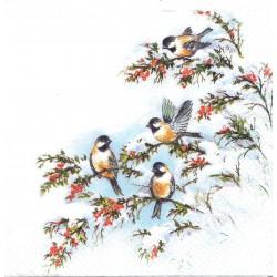 ***serwetka 33x33 BN129 ptaszki na gałązkach