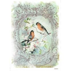 ***papier cienki A-5 1224 ptaki w ramce