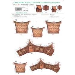 kartonowa makieta piernikowy domek