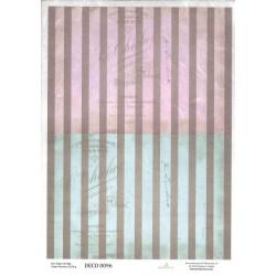 papier ryżowy A-4 kod.0096 paski nieb-róż