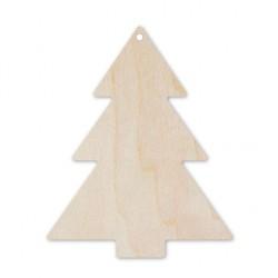 ***drewniana zawieszka choinka 8cm