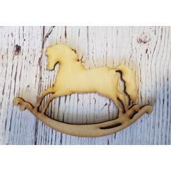 ***koń na biegunach 12cm drew