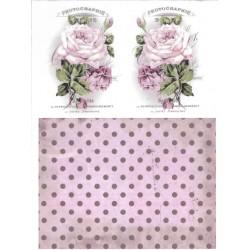 papier ryżowy A-4 kod 0094 róże/tło