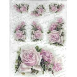papier ryżowy A-4 kod 0092 róże