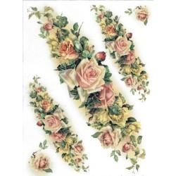 papier ryżowy A-4 kod 0017 róże