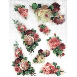 papier ryżowy A-4 kod 0014 róże