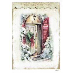 ***papier cienki A-6 1877 świąteczne drzwi