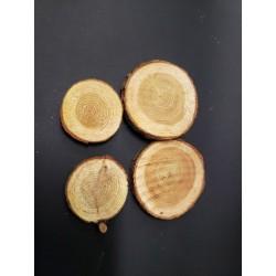 drewniane kształty plastry drewna 40 g